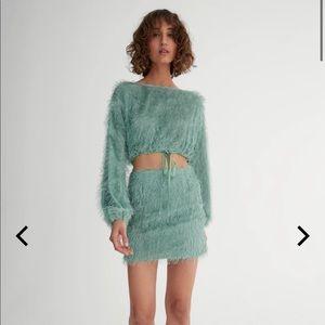 NWOT Patty top jewel skirt seagrass